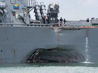 Найдены тела всех моряков, пропавших после столкновения эсминца John S. McCain с танкером