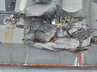 """В сообщении от имени командования ВМС США говорится, что """"неадекватное руководство"""" кораблем привело к столкновению с филиппинским контейнеровозом ACX Crystal у берегов Японии, гибели семи и ранению троих моряков"""