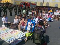 В Одессе противники ЛГБТ-движения помешали полноценному проведению гей-парада, начавшегося в городе утром в воскресенье, 13 августа