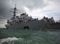 """Внутри американского эсминца """"Джон С. Маккейн"""", получившего повреждения у берегов Сингапура, нашли останки моряков"""
