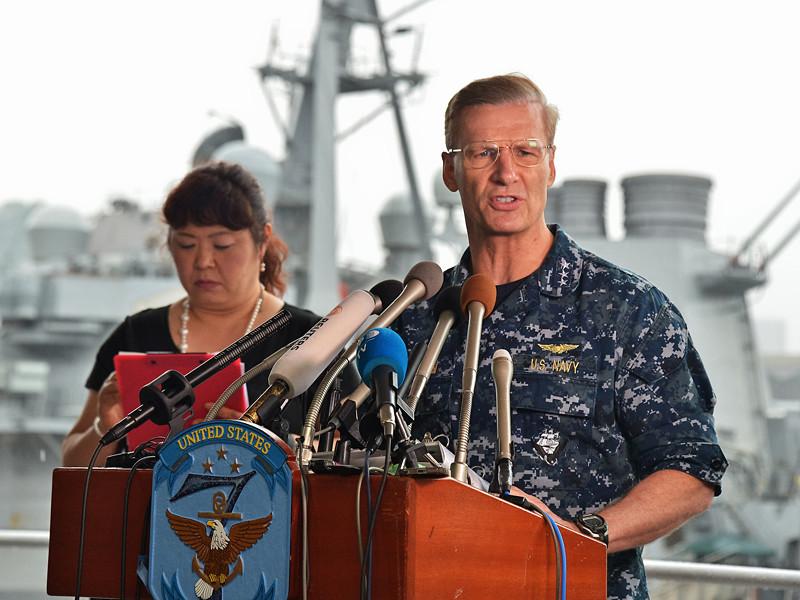 Командующий 7-го флота США Джозеф Аукойн освободил от исполнения обязанностей капитана эсминца USS Fitzgerald, его первого помощника и еще одного старшего офицера