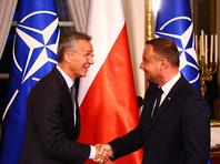 По неофициальным данным, в колонне ехал генсек НАТО. В настоящее время Столтенберг находится с двухдневным визитом в Польше