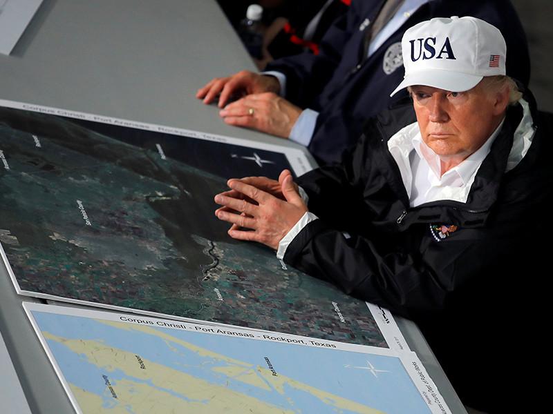 """Трамп оценил ураган """"Харви"""" как самое дорогостоящее стихийное бедствие в истории США"""
