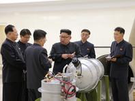 Ранее в воскресенье руководителю КНДР Ким Чен Ыну доложили о создании водородной бомбы, которая может быть установлена в качестве боеголовки на новую баллистическую ракету