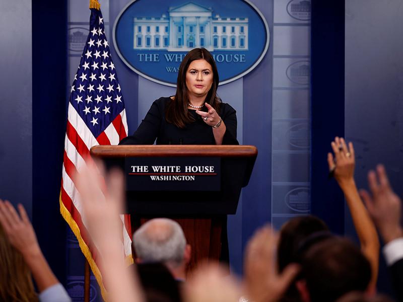 США не объявляли войну КНДР, подобные высказывания абсурдны, заявила пресс-секретарь Белого дома Сара Сандерс на пресс-брифинге 25 сентября