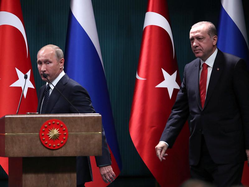 Путин после переговоров с Эрдоганом сообщил о созданных в Сирии условиях для завершения войны