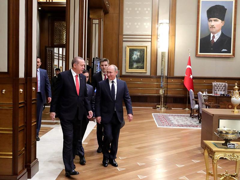 Президент России Владимир Путин по итогам встречи со своим турецким коллегой Реджепом Эрдоганом в Анкаре сообщил, что в Сирии созданы условия для прекращения войны