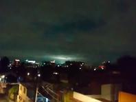 В ночном небе над Мехико после землетрясения зафиксированы зеленые и голубые сполохи (ВИДЕО)