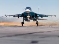 """""""После подтверждения полученной информации и проведения доразведки цели с авиабазы Хмеймим были подняты два самолетами Су-34 и Су-35 ВКС России, которые нанесли точечный авиационный удар бетонобойными бомбами"""", - рассказали в ведомстве"""