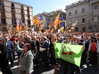 Сотни мэров каталонских городов вышли на марш в Барселоне в защиту референдума о независимости