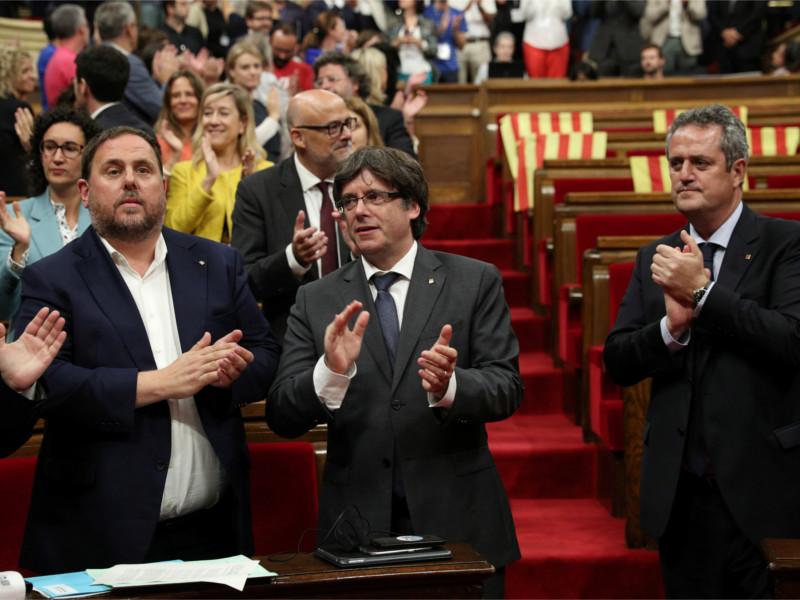 Парламент Каталонии после голосования о референдуме