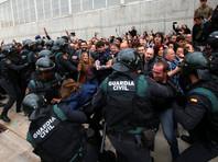 Счет пострадавших в Каталонии во время голосования на референдуме о независимости идет на сотни
