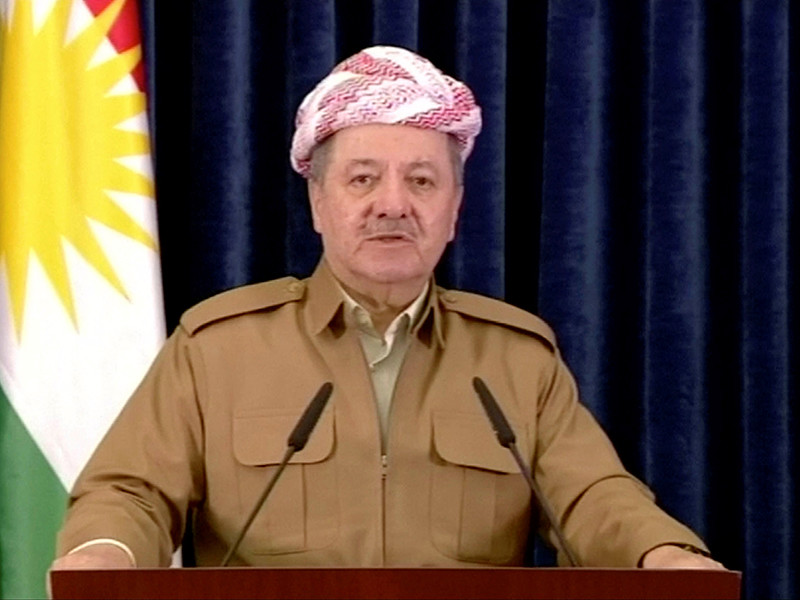 "Глава Курдистана назвал ""великим предательством"" сдачу Киркука силам Ирака"