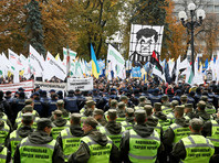 В центре Киева начались столкновения между сторонниками Саакашвили и полицейскими