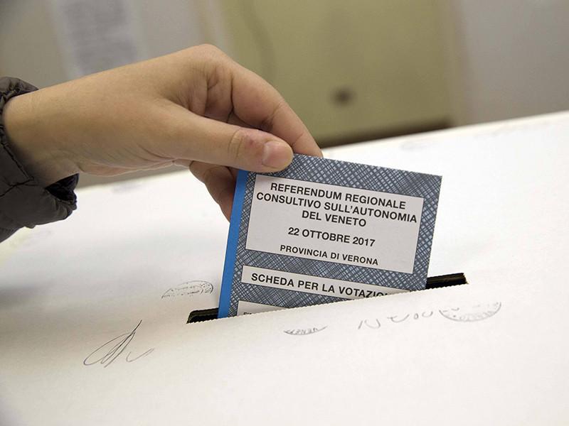 В голосовании в Венето, которое закончилось в 23:00 (00:00 по Москве), участвовали 59,7% избирателей. В результате около 98% человек высказались за расширение полномочий региональных властей, 2% выступили против