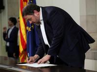 """Вице-президент Каталонии Уриол Жункерас заявил о том, что власти Испании не оставили сепаратистами """"никаких других вариантов"""", кроме как объявить о создании новой республики"""