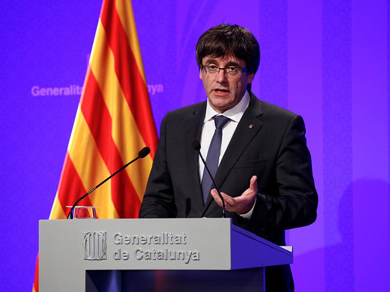 Глава женералитета Карлес Пучдемон дал первое интервью с момента референдума