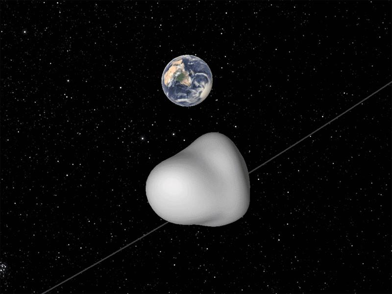 Утром в четверг, 12 октября, в 08:40 по московскому времени над Антарктикой пролетел астероид 2012 TC4