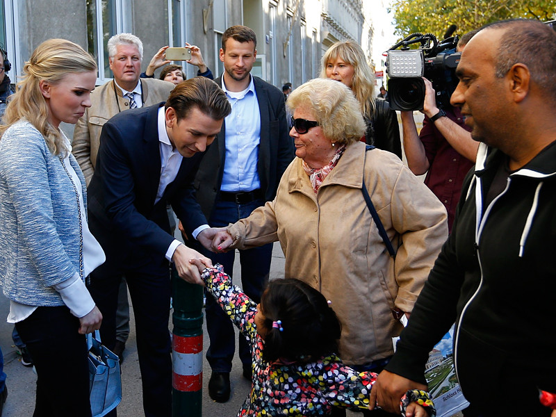 На выборах в парламент Австрии лидирует консервативная Австрийская народная партия (АНП) во главе с нынешним министром иностранных дел страны Себастьяном Курцем: ему 31 год и в качестве канцлера он будет самым молодым главой государства в мире