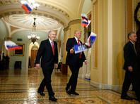 В США  арестован мужчина, забросавший Трампа российскими флажками в здании конгресса