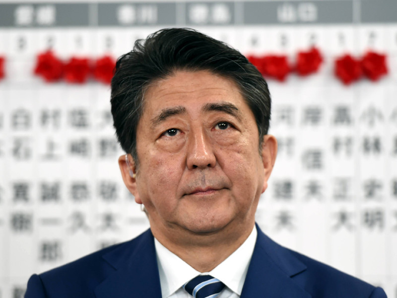 """Премьер-министр Японии Синдзо Абэ сообщил, что будет """"решительно бороться"""" с угрозой, исходящей от Северной Кореи"""