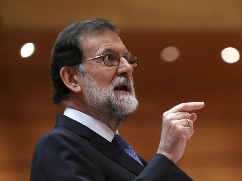 Премьер-министр Испании Мариано Рахой выступил в Сенате на заседании, посвященном кризису в Каталонии