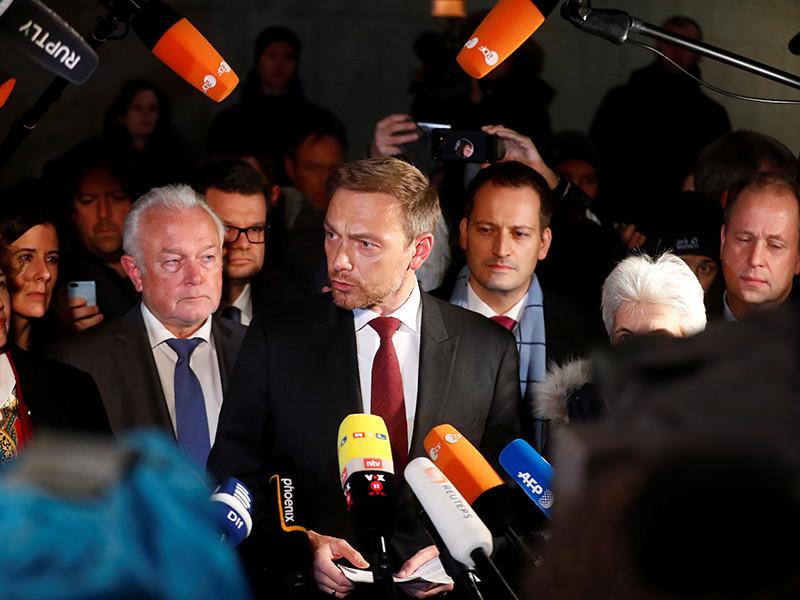 Лидер свободных демократов объявил о провале переговоров по формированию правительства в Германии