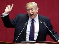 """Трамп подчеркнул, что Вашингтон выступает за мирное разрешение кризиса на Корейском полуострове, но при этом намерен демонстрировать Пхеньяну свою силу. """"Мы за мир через силу"""", - сказал Трамп"""