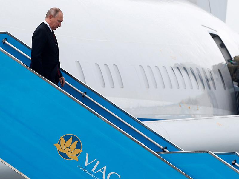 Президент РФ Владимир Путин прибыл во Вьетнам, где примет участие в саммите стран Азиатско-Тихоокеанского экономического сотрудничества (АТЭС), а также проведет ряд международных встреч, в том числе, вероятно, с президентом США Дональдом Трампом