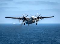 В Тихом океане завершены поиски трех моряков, пропавших после крушения самолета ВМС США