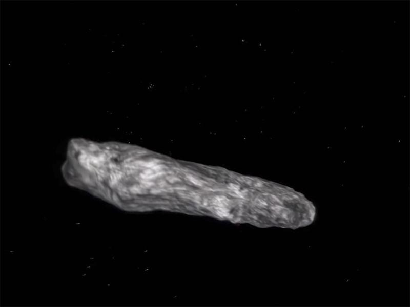Ученые сообщили об обнаружении первого межзвездного астероида (ВИДЕО)
