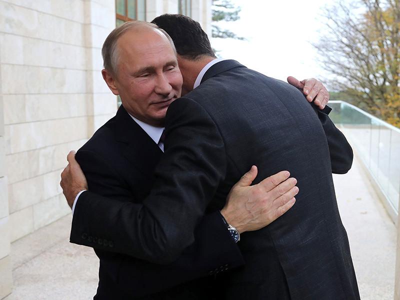 Госдепартамент сделал из фотографии обнимающихся Путина и Асада далекоидущие выводы насчет химатак в Сирии