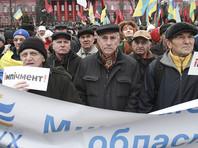 Саакашвили в Киеве проводит очередной марш за импичмент Порошенко