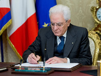 Президент Италии Серджо Маттарелла объявил о роспуске обеих палат парламента