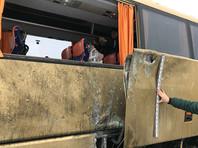 """Неизвестные повредили автобус МАN польской регистрации на стоянке отеля """"Панська Гора"""" в селе Сокольники под Львовом в ночь на 10 декабря"""