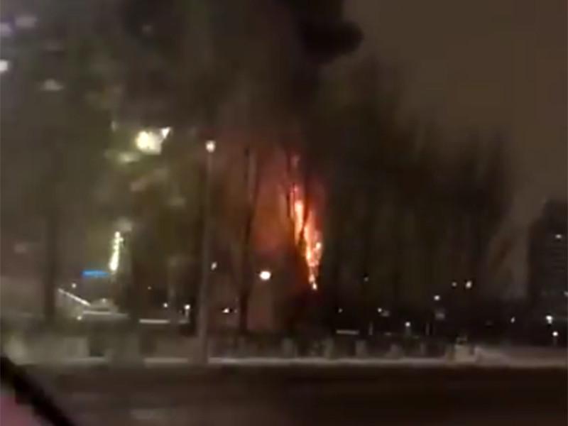 В столице Казахстана Астане утром 25 декабря сгорела новогодняя елка. ЧП произошло в 6:19 на проспекте Туран. Жертв и пострадавших нет