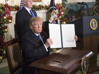 """Комментируя заявление президента США Дональда Трампа о признании Иерусалима столицей Израиля и намерении перенести американское посольство из Тель-Авива в Иерусалим, Земан заявил, что его такое решение""""очень обрадовало"""""""