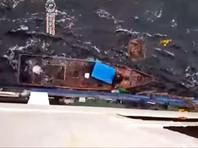 """Экипаж российского судна """"Петр Ильичев"""" спас из моря троих рыбаков, предположительно граждан КНДР (ВИДЕО)"""