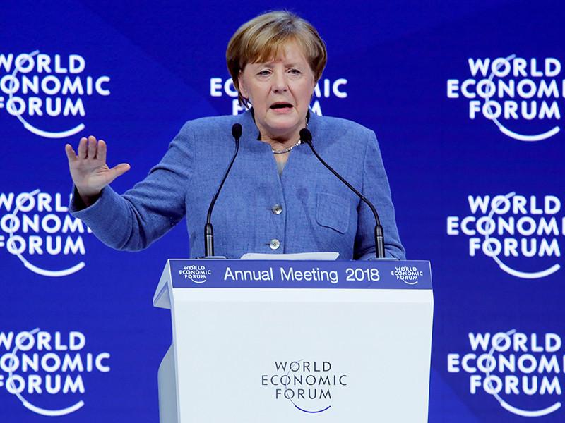 Меркель на форуме в Давосе упрекнула страны ЕС за разногласия во внешней политике
