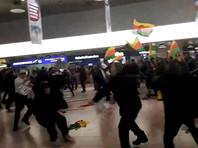 В аэропорту немецкого города Ганновера полиция остановила массовую драку курдских демонстрантов с турецкими пассажирами, в которой приняли участие около 180 человек