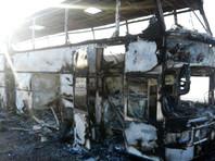 МВД Казахстана:  автобус с рабочими  из Узбекистана мог сгореть  из-за использования открытого огня в салоне