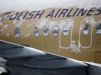 В Варшаве успешно сел самолет без переднего шасси