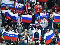 """Российские хоккейные болельщики на трибуне   в Пхенчхане  повесили баннер со Сталиным. Ранее за наших """"болели"""" также Ленин и Путин"""