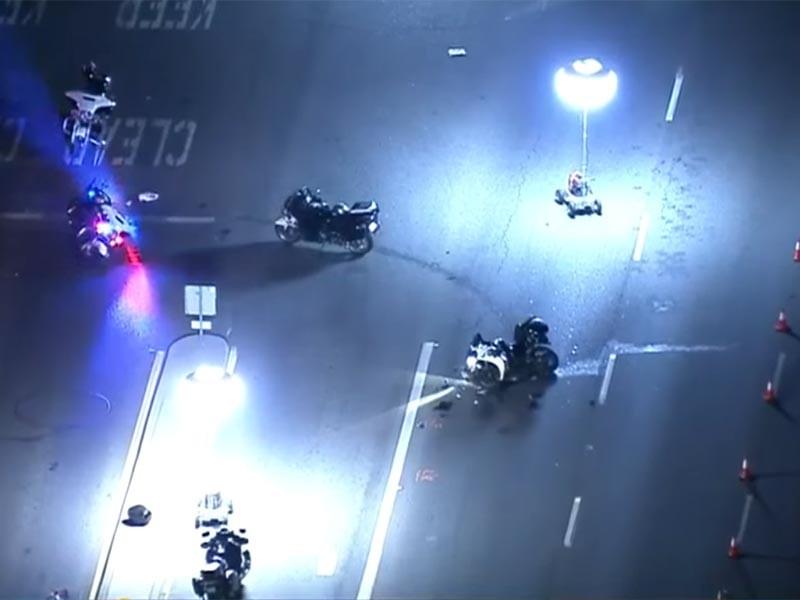На обратном пути мотоцикл, сопровождавший автомобиль Трюдо, столкнулся с машиной Toyota Highlander, в котором находилась семейная пара с ребенком. В результате аварии пострадали женщина-водитель Toyota Highlander, ее сын и мотоциклист