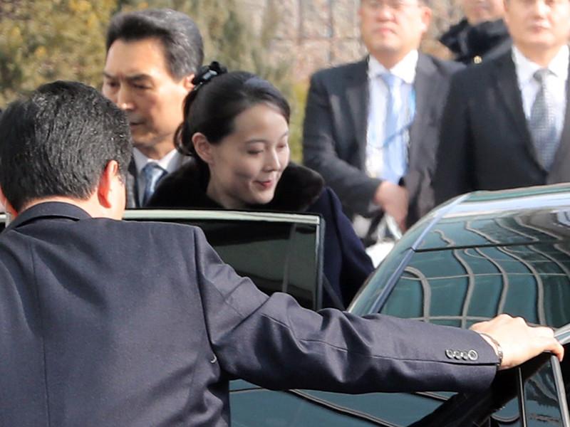 Сестра лидера КНДР Ким Чен Ына - Ким Е Чжон - прибыла в Южную Корею в рамках визита, приуроченного к началу зимней Олимпиады в Пхенчхане