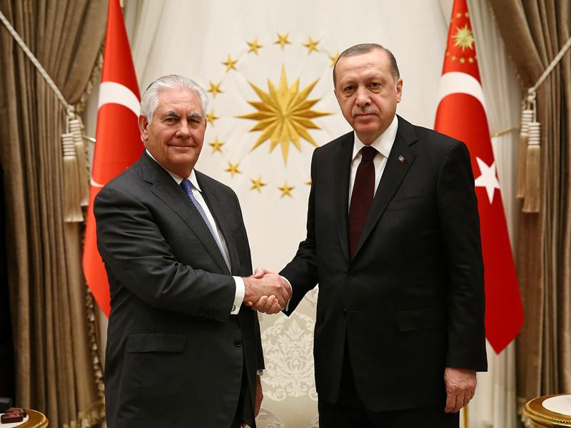 Рекс Тиллерсон и Тайип Эрдоган, Анкара, 15 февраля 2018 года
