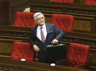 """Президент Армении распустил правительство после отставки премьер-министра из-за массовых протестов"""" />"""