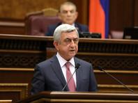 Премьер-министром Армении избран Саргсян, против которого несколько дней протестует оппозиция