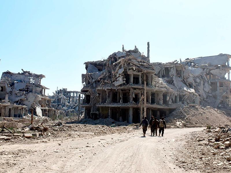 """Боевики из группировки """"Джейш аль-Ислам"""" начали покидать сирийский город Дума в Восточной Гуте."""