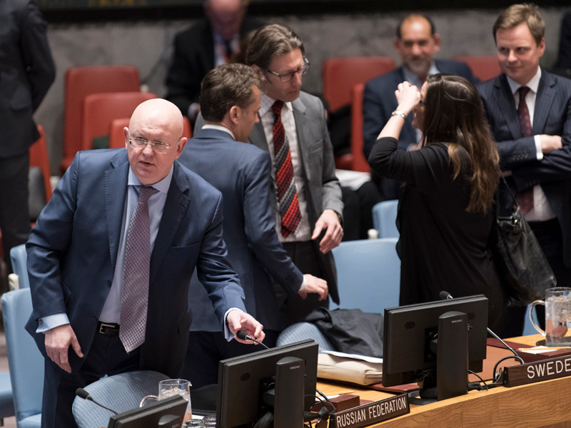 """Россия наложила вето на американский проект резолюции по расследованию химатак в Сирии"""" />"""